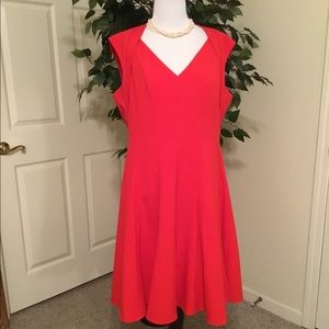 Calvin Klein Red Fit and Flare Sleeveless Dress.12